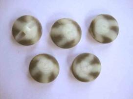 Serie knoop Creme/zwart/grijs gevlekt 25mm. sk907