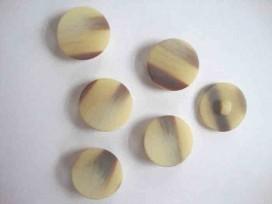 Serie knoop Creme/bruin gevlekt 25mm. sk910