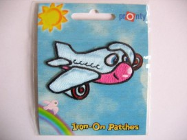 9c Iron-on Vliegtuig met gezicht 352