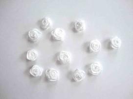 5d Applicatie Roos/strikje Wit roosje R661