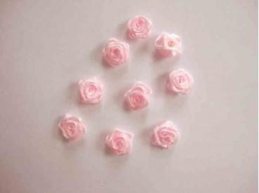 Applicatie Roos/strikje Roze roosje R663
