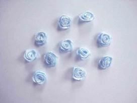 5g Applicatie Roos/strikje Lichtblauw roosje R664