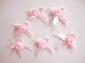 Applicatie Roos/strikje Roze roosstrikje RS665
