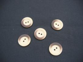 Houten knoop met bruine vlek 20mm. hk7059
