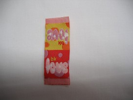 2x Love klein rood/geel B