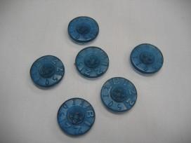 Rubber knoop Bizzkids blauw 18mm
