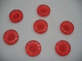 1y rubber knoop Bizzkids rood B 15