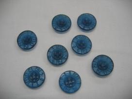 Rubber knoop Bizzkids blauw 15mm