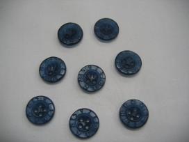 Rubber knoop Bizzkids donkerblauw 15mm