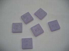 Plastic vierkante Roos knoop Lila 15