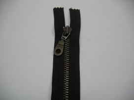 1f Antiek messingrits deelbaar zwart 25 cm.
