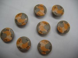 4w Ronde knoop geel/grijs B 15