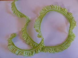Elastisch kant boerenbont ruit Lime  2cm