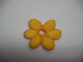 Gele bloem met open hart