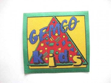 Original Gemco. Een opnaaibare applicatie van 9.5 x 9 cm.