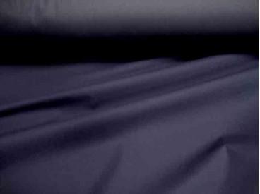 Een donkerblauwe licht gewicht gladde jassenstof.  Wind en waterdicht.  1.50 mtr. br.  Nylonstof.