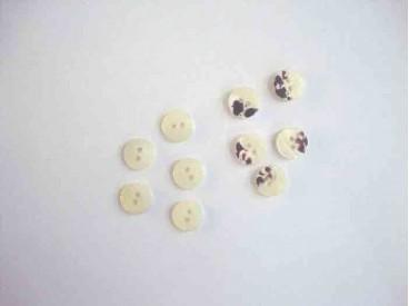 Kunststof mini knoop 2-zijdig Offwhite 10mm. 800-S9