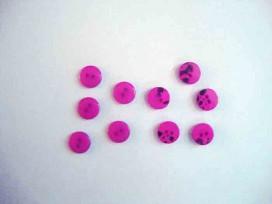5c Kunststof mini knoop 2-zijdig Donkerroze 10mm. 802-S9