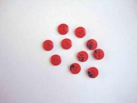 Kunststof mini knoop 2-zijdig Rood 10mm. 804-S9