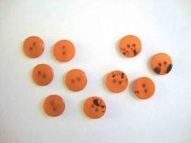 5h Kunststof mini knoop 2-zijdig Warmoranje 12mm. 807-S9