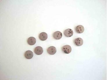Kunststof mini knoop 2-zijdig Licht taupe 10mm. 816-S9