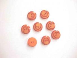 5e Kunststof knoop met boog Warm oranje 15mm. 834-S10