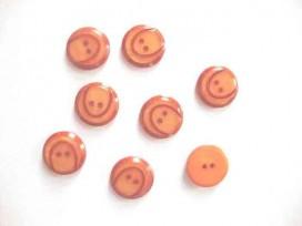 5f Kunststof knoop met boog Warm oranje 18mm. 835-S10