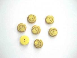 Kunststof knoop met boog Geel 15mm. 837-S10