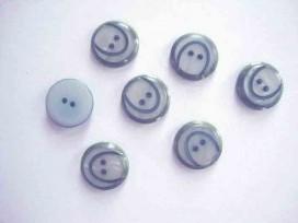 5o Kunststof knoop met boog Oudblauw 18mm. 844-S10
