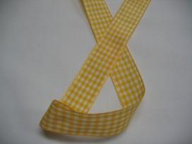 9i Boerenbont lint geel/wit geruit