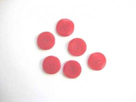 Kunststof knoop met hoekjes Rood 18mm. 303-S11