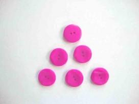 Kunststof knoop met hoekjes Pink 18mm. 305-S11