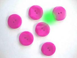 5g Kunststof knoop met hoekjes Pink 20mm. 306-S11