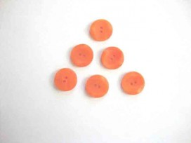5h Kunststof knoop met hoekjes Oranje 18mm. 307-S11