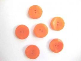 Kunststof knoop met hoekjes Oranje 20mm. 308-S11