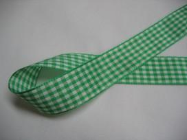 9k Boerenbont lint groen/wit geruit