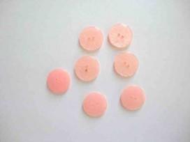 5f Kunststof knoop glanzend gemeleerd Roze 18mm. 335-S12