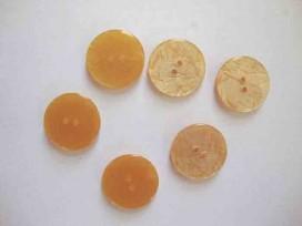 5j Kunststof knoop glanzend gemeleerd Goud 20mm. 339-S12