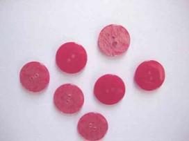 Kunststof knoop glanzend gemeleerd Rood 20mm. 341-S12