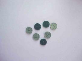 Kunststof knoop glanzend gemeleerd Groen 15mm. 342-S12