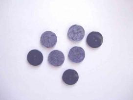 5s Kunststof knoop glanzend gemeleerd Donkerblauw 15mm. 348-S12
