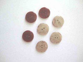 5w Kunststof knoop glanzend gemeleerd Bruin 18mm. 352-S12