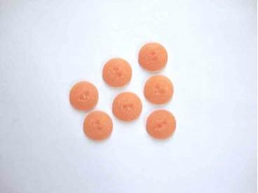 5e Kunststof knoop mat gespikkeld Oranje 18mm. 404-S13