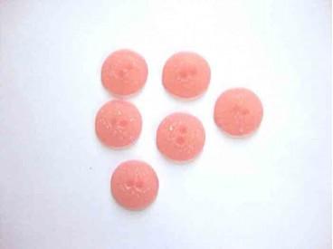 5j Kunststof knoop mat gespikkeld Oranje/rood 18mm. 409-S13