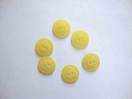 Kunststof knoop mat gespikkeld Geel 18mm. 414-S13