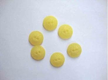 5o Kunststof knoop mat gespikkeld Geel 18mm. 414-S13