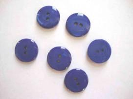 Kunststof knoop glanzend glad Kobalt 22 mm. 432-S14