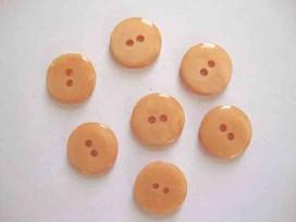 5d Kunststof knoop glanzend glad Licht oranje 22mm. 433-S14