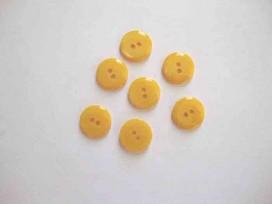5g Kunststof knoop glanzend glad Geel 18mm. 436-S14