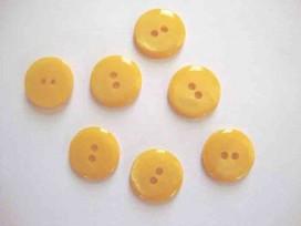 5h Kunststof knoop glanzend glad Geel 22mm. 437-S14